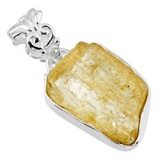 925 sterling silver 10.65cts natural scapolite fancy pendant jewelry r56564