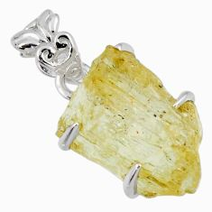 925 sterling silver 13.68cts natural scapolite fancy shape pendant r56725