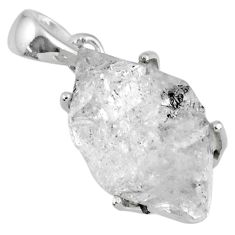 925 sterling silver 15.90cts natural white herkimer diamond fancy pendant r56749