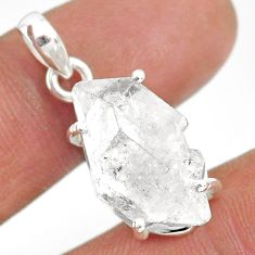 925 sterling silver 13.68cts natural white herkimer diamond fancy pendant r85340