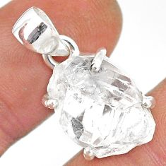 925 sterling silver 11.62cts natural white herkimer diamond fancy pendant r85352