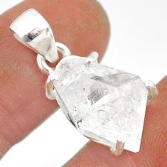 925 sterling silver 10.48cts natural white herkimer diamond fancy pendant r85359