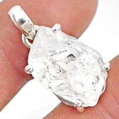925 sterling silver 13.08cts natural white herkimer diamond fancy pendant r85376