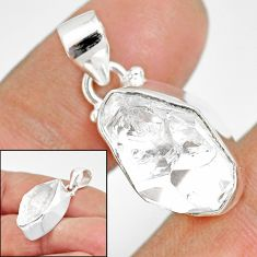 925 sterling silver 11.25cts natural white herkimer diamond fancy pendant r85384
