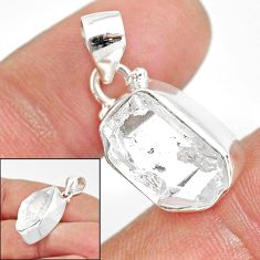 925 sterling silver 10.76cts natural white herkimer diamond fancy pendant r85407