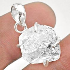 925 sterling silver 12.19cts natural white herkimer diamond fancy pendant t49594