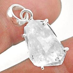 925 sterling silver 13.68cts natural white herkimer diamond fancy pendant t49599