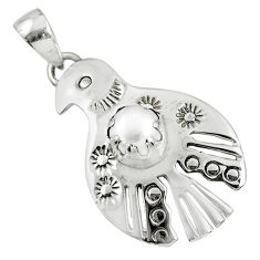 925 sterling silver 2.41cts natural white pearl birds charm pendant r77894