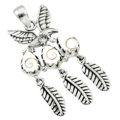 925 sterling silver 5.51cts natural white shiva eye dreamcatcher pendant r67728