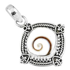 925 sterling silver 4.71cts natural white shiva eye pendant jewelry r57652