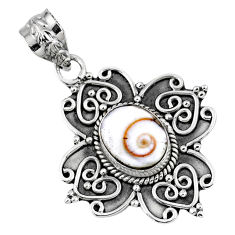 925 sterling silver 4.51cts natural white shiva eye pendant jewelry r57770