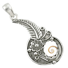 925 sterling silver 4.38cts natural white shiva eye round flower pendant r67766
