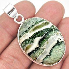925 sterling silver 29.78cts natural white zebra jasper pendant jewelry t41906
