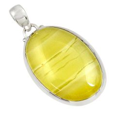 Clearance Sale- 925 sterling silver 26.52cts natural yellow olive opal pendant jewelry d39307