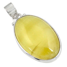 Clearance Sale- 925 sterling silver 21.48cts natural yellow olive opal pendant jewelry d39320