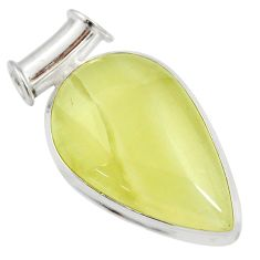 Clearance Sale- 925 sterling silver 22.02cts natural yellow olive opal pendant jewelry d41408
