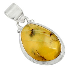 Clearance Sale- 925 sterling silver 11.57cts natural yellow opal fancy pendant jewelry d44580