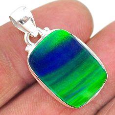 925 silver 7.82cts northern lights aurora opal (lab) pendant jewelry t17006