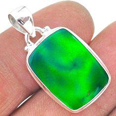 925 silver 8.86cts northern lights aurora opal (lab) pendant jewelry t17034