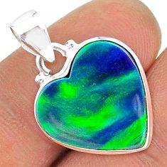 925 silver 5.42cts northern lights aurora opal (lab) pendant jewelry t17080