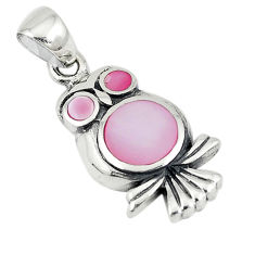 925 sterling silver pink pearl enamel owl charm pendant jewelry a74740 c14507