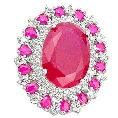 925 sterling silver red ruby quartz topaz pendant jewelry c19898
