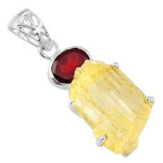 925 sterling silver 17.24cts scapolite fancy red garnet pendant jewelry r57014