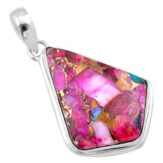 925 sterling silver 15.65cts spiny oyster arizona turquoise fancy pendant t32277