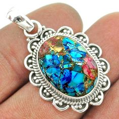925 sterling silver 13.15cts spiny oyster arizona turquoise pendant t56010