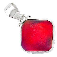 925 silver 3.65cts volcano aurora opal (lab) cushion pendant jewelry t25898