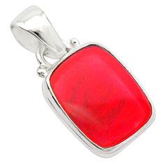 925 silver 4.09cts volcano aurora opal (lab) octagan pendant jewelry t26023