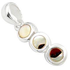 925 sterling silver white blister pearl enamel pendant jewelry c22759