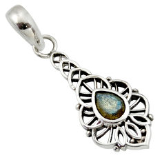 Clearance Sale- 1.82cts natural blue labradorite 925 sterling silver pendant jewelry d33159