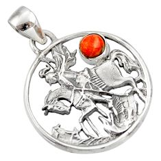 Clearance Sale- 925 sterling silver 0.75cts red copper turquoise horse pendant jewelry d33166