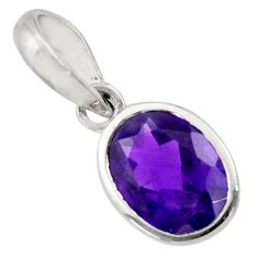 2.58cts natural purple amethyst 925 sterling silver pendant jewelry d33253
