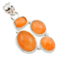 Clearance Sale- 925 sterling silver 16.46cts natural yellow moonstone pendant jewelry d33464