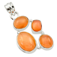 16.35cts natural yellow moonstone 925 sterling silver pendant jewelry d33468