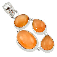 925 sterling silver 15.47cts natural yellow moonstone pendant jewelry d33471