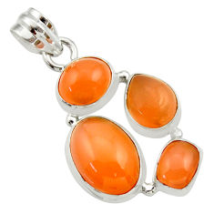 Clearance Sale- 15.47cts natural yellow moonstone 925 sterling silver pendant jewelry d33473