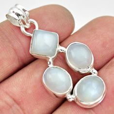 Clearance Sale- 11.66cts natural white moonstone 925 sterling silver pendant jewelry d33476