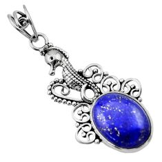 Clearance Sale- 9.56cts natural blue lapis lazuli 925 sterling silver pendant jewelry d33538
