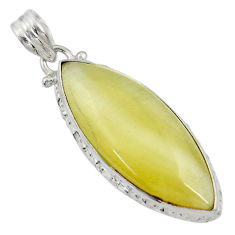 Clearance Sale- 925 sterling silver 19.07cts natural yellow olive opal pendant jewelry d33744
