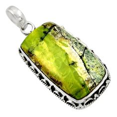 17.57cts natural green swiss imperial opal 925 sterling silver pendant d33793