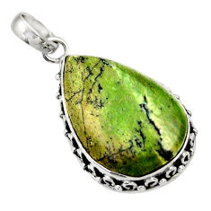 925 sterling silver 15.05cts natural green swiss imperial opal pendant d33796