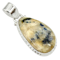 Clearance Sale- 18.15cts natural blue dumortierite 925 sterling silver pendant jewelry d33823