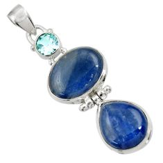 Clearance Sale- 925 sterling silver 21.18cts natural blue kyanite topaz pendant jewelry d36244