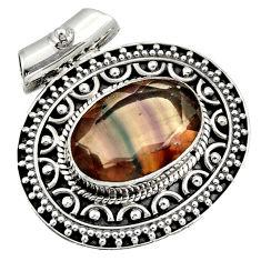 ver 10.84cts natural multi color fluorite pendant jewelry d36364