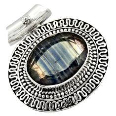 ver 13.90cts natural multi color fluorite pendant jewelry d36378