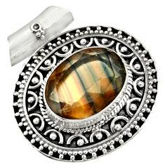 multi color fluorite 925 sterling silver pendant jewelry d36396