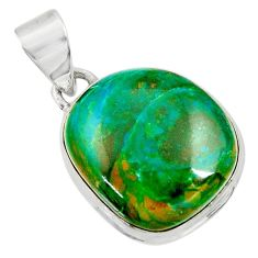 Clearance Sale- 15.65cts natural green opaline 925 sterling silver pendant jewelry d36401